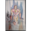Iron Man - Andy Lee Signed Original Con Style Fan Painting