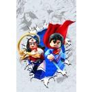 SUPERMAN WONDER WOMAN #13 LEGO VAR