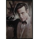 DOCTOR WHO - MATT SMITH PRINT - HAND SIGNED BY ARTIST ROB PRIOR