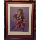 """OLIVIA"" DE BERARDINIS PinUp Art ""Tattoo II"" Print Signed & Numbered - Professionally Framed"